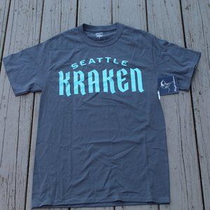 SEATTLE KRAKEN Grey TShirt by Wright and Diston SIze S. Hockey